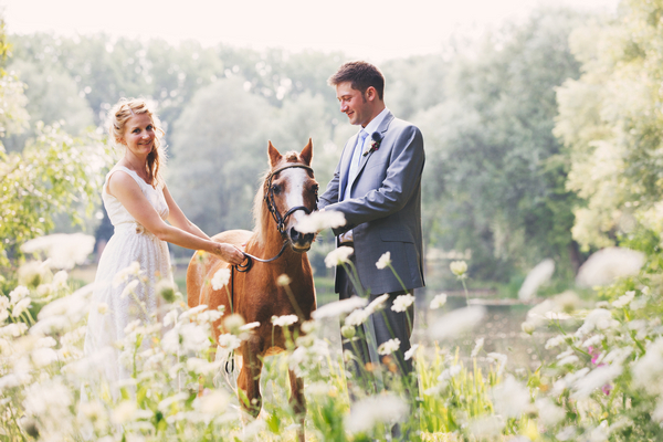 A Rustic, Humanist Wedding with a Musical Theme