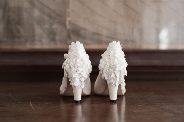 Back of wedding shoes