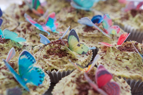 Butterflies on cupcakes