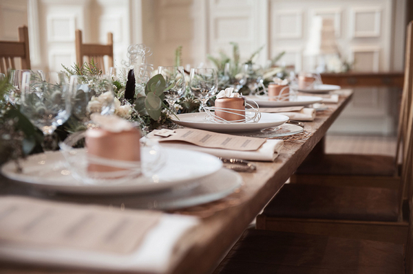 Wedding table place settings