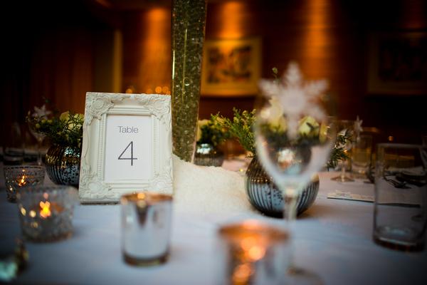 Winter wedding table display