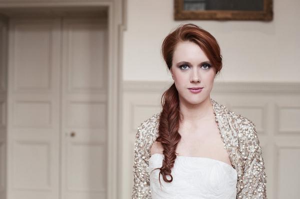 Bride with fishtail plait