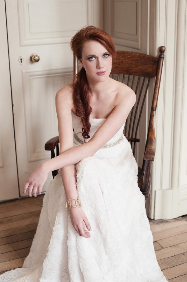 Bride sitting on chair