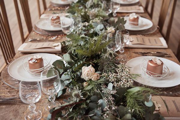 Large foliage wedding table centrepiece