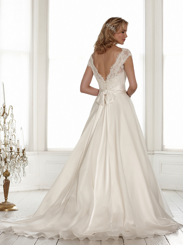 Back of Alexandra Wedding Dress - Sassi Holford Signature 2015 Bridal Collection