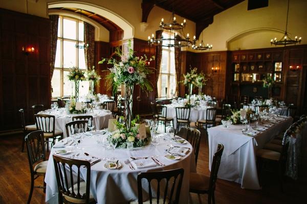 Chateau Rhianfa Banqueting Hall Wedding Breakfast