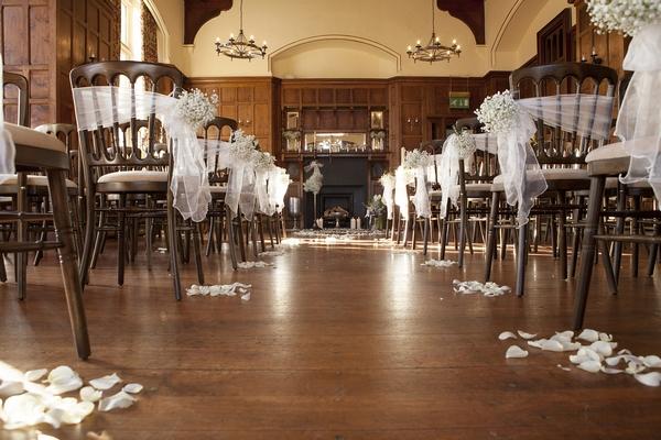 Wedding Ceremony in Chateau Rhianfa Banqueting Hall