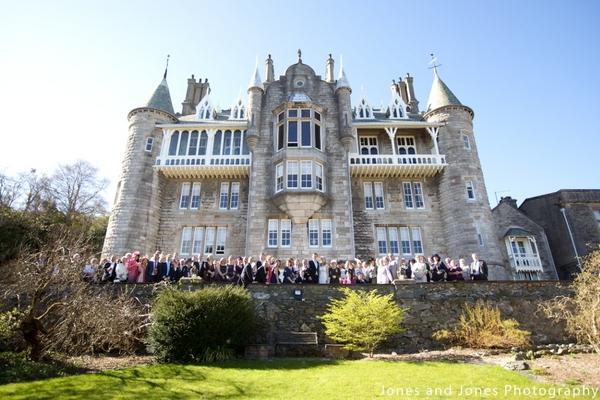 Wedding Party at Chateau Rhianfa