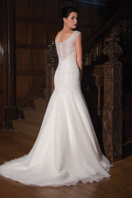 Back of Constellation Wedding Dress - Augusta Jones Fall 2015 Bridal Collection