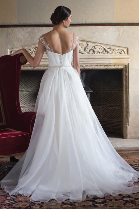 Back of Debra Wedding Dress - Augusta Jones Fall 2015 Bridal Collection