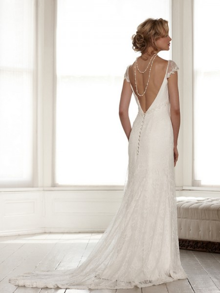 Back of Fleur Wedding Dress - Sassi Holford Signature 2015 Bridal Collection