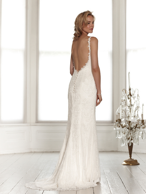 Back of Harper Wedding Dress - Sassi Holford Signature 2015 Bridal Collection