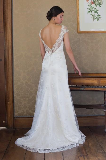 Back of Jill Wedding Dress - Augusta Jones Fall 2015 Bridal Collection