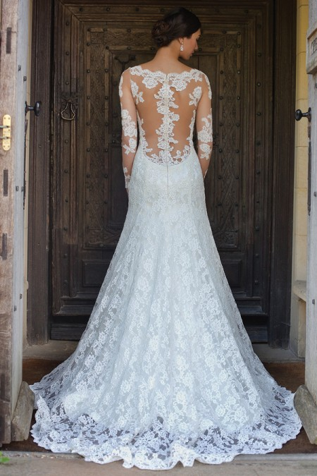 Back of Jo Wedding Dress - Augusta Jones Fall 2015 Bridal Collection