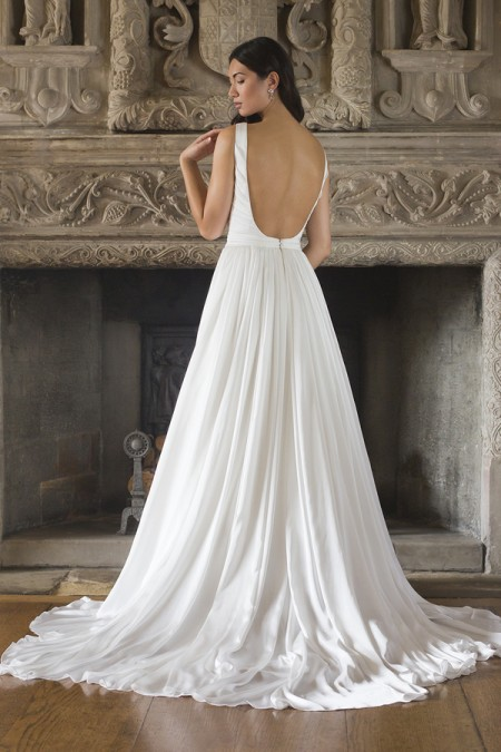Back of Kathleen Wedding Dress - Augusta Jones Fall 2015 Bridal Collection