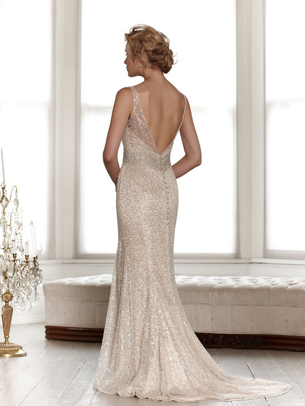 Back of Leah Wedding Dress - Sassi Holford Signature 2015 Bridal Collection