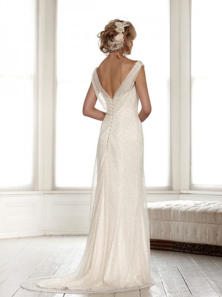 Back of Lucinda Wedding Dress - Sassi Holford Signature 2015 Bridal Collection