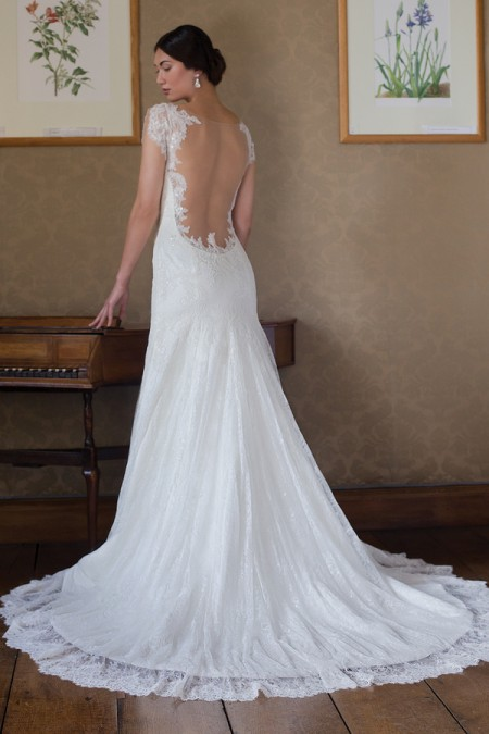 Back of Megan Wedding Dress - Augusta Jones Fall 2015 Bridal Collection