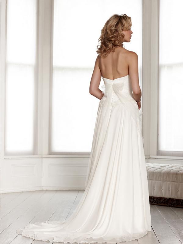 Back of Portia Wedding Dress - Sassi Holford Signature 2015 Bridal Collection