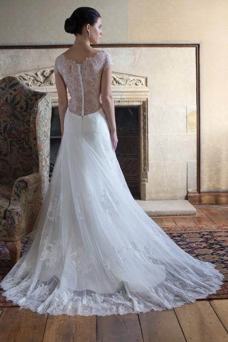 Back of Tara Wedding Dress - Augusta Jones Fall 2015 Bridal Collection