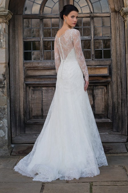 Back of Tess Wedding Dress - Augusta Jones Fall 2015 Bridal Collection