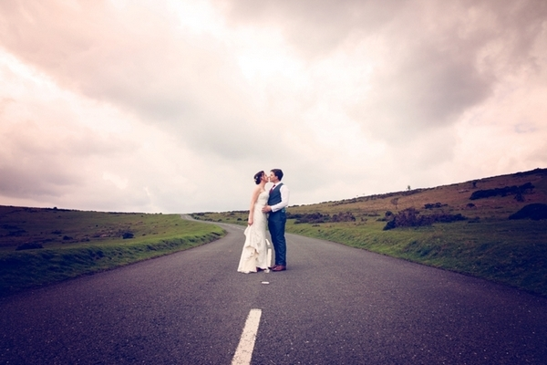 Couple standing in the middle of the road - Picture by McKenzie Brown Photography