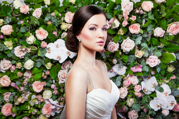 Bride with chignon hairstyle