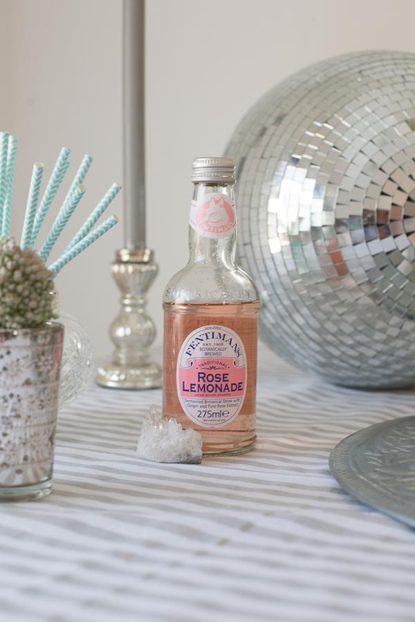 Bottle of rose lemonade