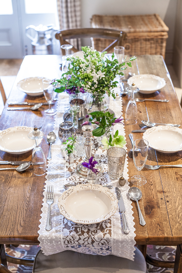 Table runner and centrepiece