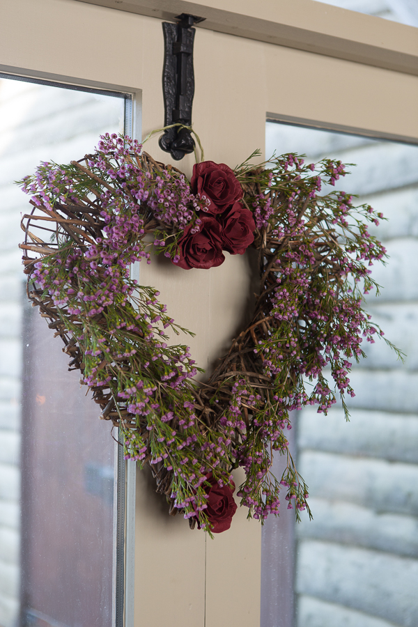 Foliage heart wreath