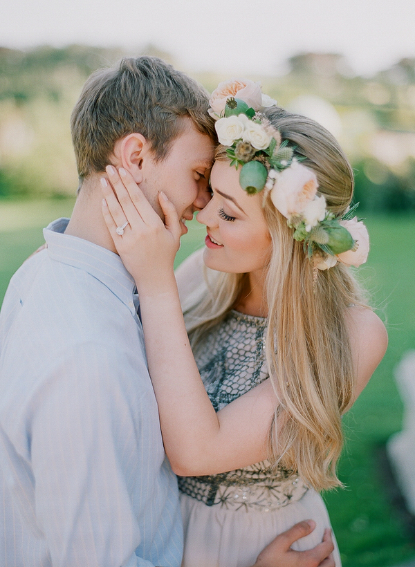 Couple about to kiss