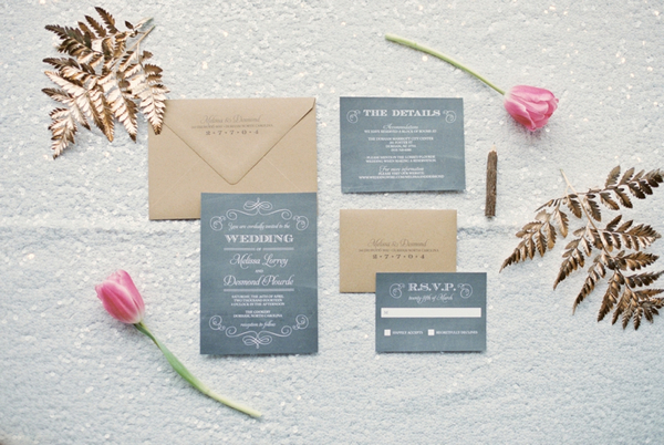 School themed wedding stationery
