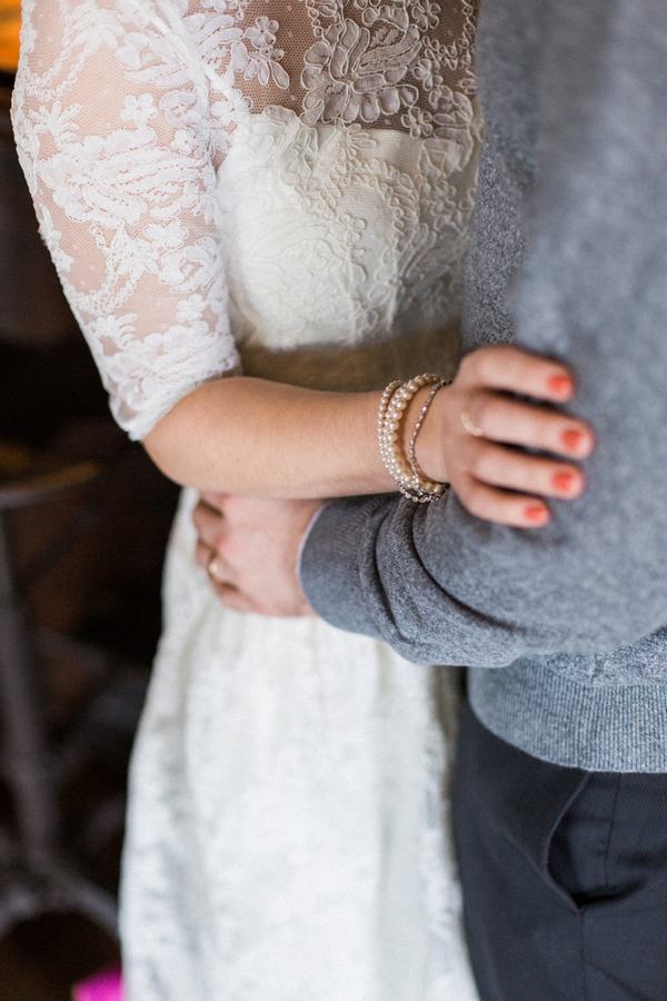 Couple's arms