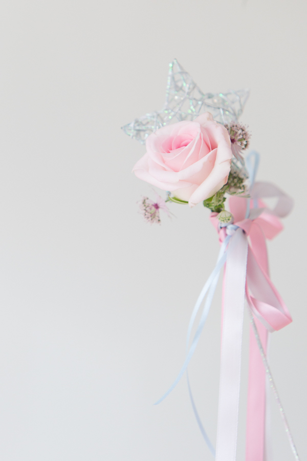 Pink rose star wand