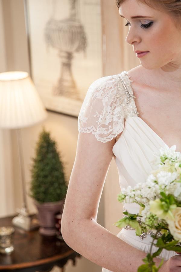 Detail on wedding dress