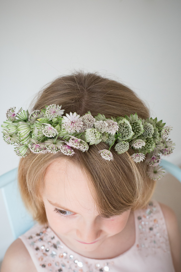 Flower girl's succulent crown