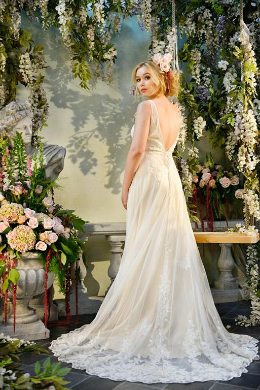 Back of Allegria Wedding Dress - Terry Fox Siren Song 2015 Bridal Collection