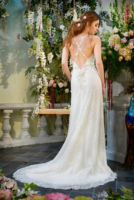 Back of Angel Eyes Wedding Dress - Terry Fox Siren Song 2015 Bridal Collection