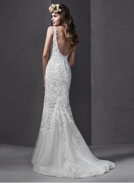 Back of Brooklyn Wedding Dress - Sottero and Midgley Spring 2015 Bridal Collection
