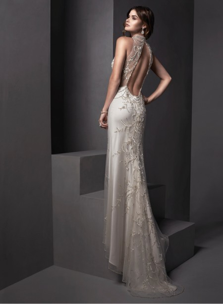 Back of Catalina Wedding Dress - Sottero and Midgley Spring 2015 Bridal Collection