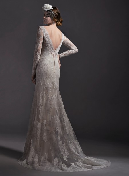 Back of Danae Wedding Dress - Sottero and Midgley Spring 2015 Bridal Collection