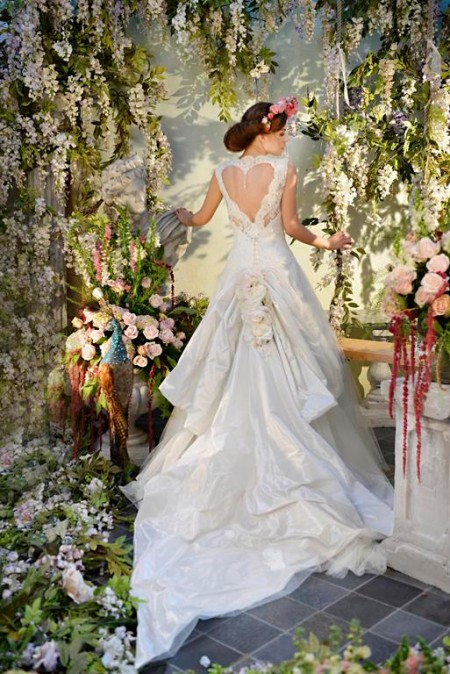 Back of Dance Away Wedding Dress - Terry Fox Siren Song 2015 Bridal Collection