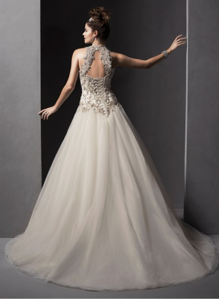 Back of Danica Wedding Dress - Sottero and Midgley Spring 2015 Bridal Collection