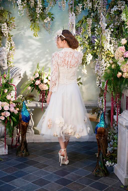 Back of Dreamboats and Petticoats Wedding Dress - Terry Fox Siren Song 2015 Bridal Collection