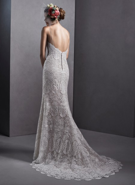 Back of Emmanuelle Wedding Dress - Sottero and Midgley Spring 2015 Bridal Collection