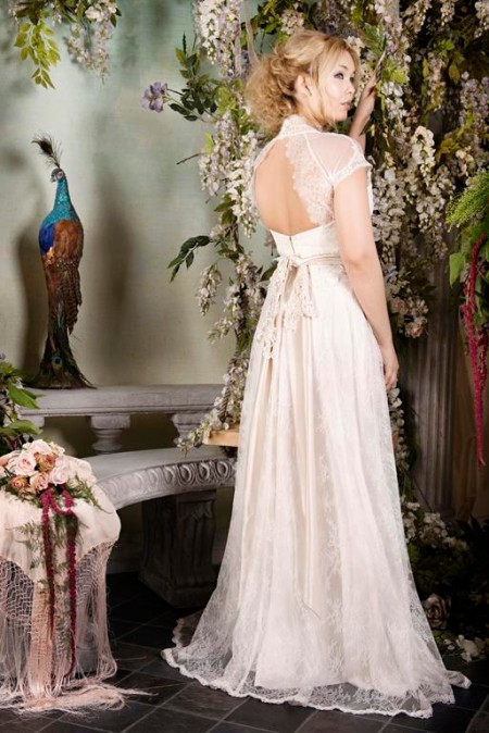 Back of Enigma Wedding Dress - Terry Fox Siren Song 2015 Bridal Collection