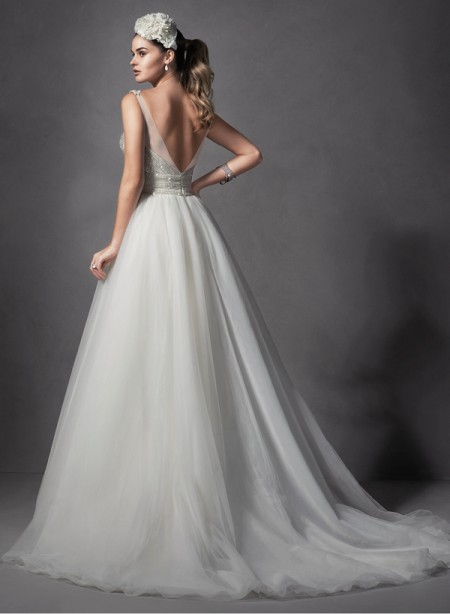 Back of Forsythia Wedding Dress - Sottero and Midgley Spring 2015 Bridal Collection