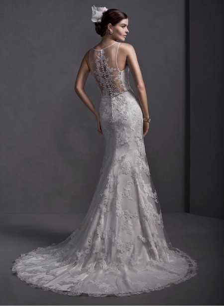 Back of Jamila Wedding Dress - Sottero and Midgley Spring 2015 Bridal Collection
