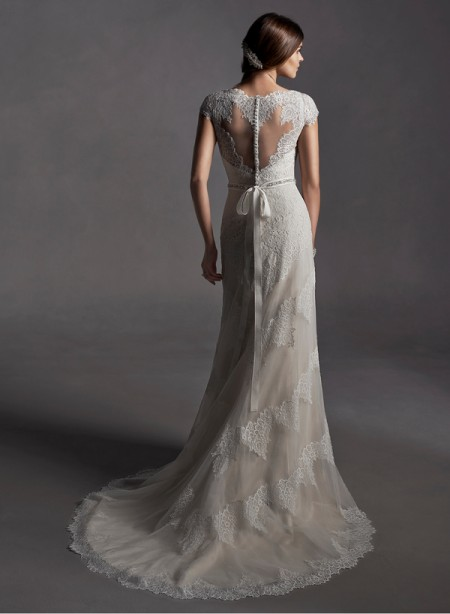 Back of Jane Wedding Dress - Sottero and Midgley Spring 2015 Bridal Collection