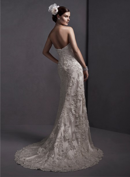 Back of Karenza Wedding Dress - Sottero and Midgley Spring 2015 Bridal Collection